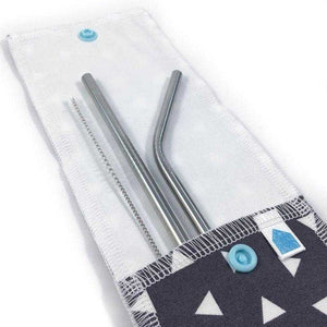 Reusable Straw Pouch with Waterproof Liner - Countryside Treasures