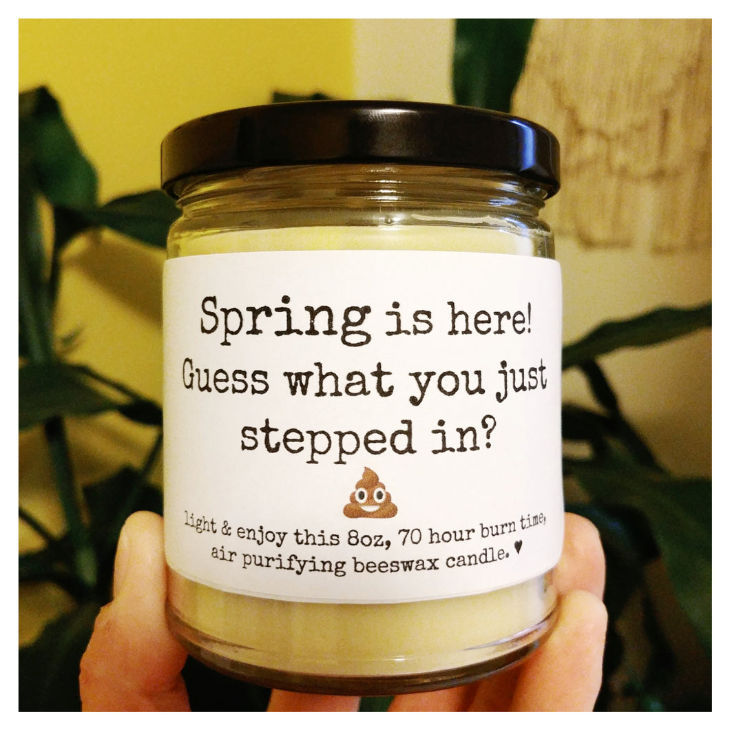 GUESS WHAT YOU JUST STEPPED IN beeswax candle - Countryside Treasures