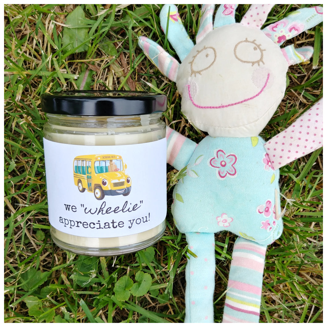 WE WHEELIE APPRECIATE YOU beeswax candle - Countryside Treasures