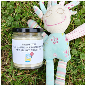 THANK YOU FOR MAKING MY WORLD SAFER beeswax candle - Countryside Treasures
