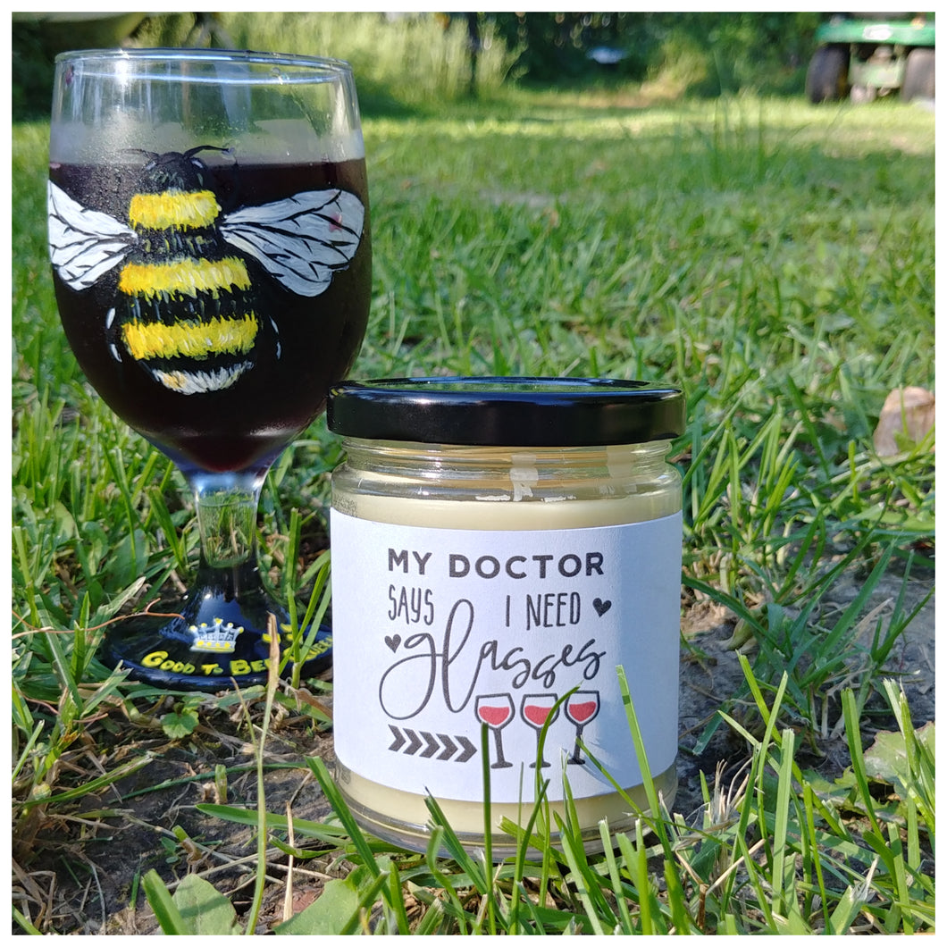 MY DOCTOR SAYS I NEED GLASSES beeswax candle - Countryside Treasures