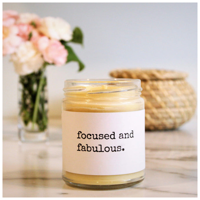 FOCUSED AND FABULOUS beeswax candle - Countryside Treasures