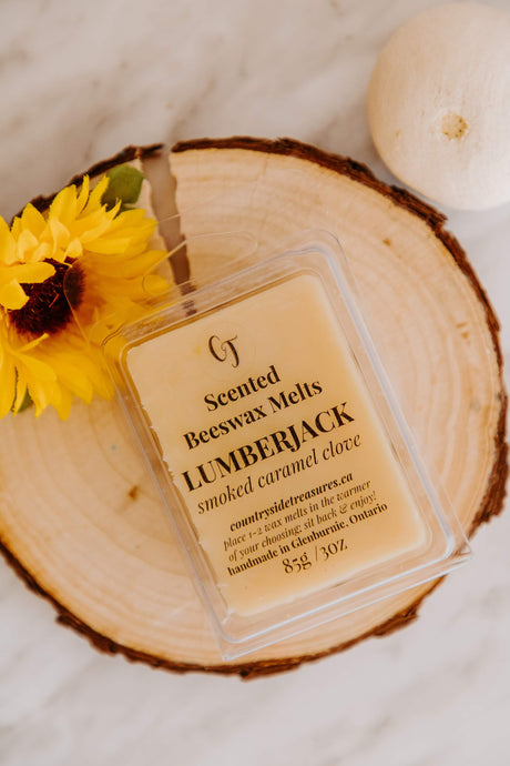 LUMBERJACK Scented Beeswax Melts (Clamshell) | Home Fragrance | Countryside Treasures
