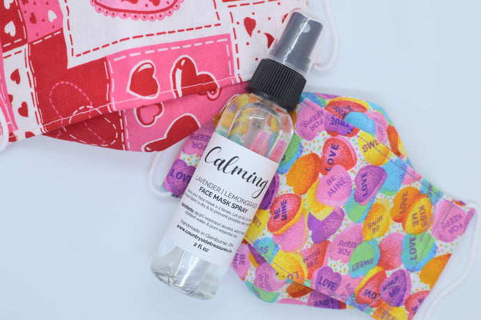 Reusable Face Covering & Spray Combo - Valentine's Day