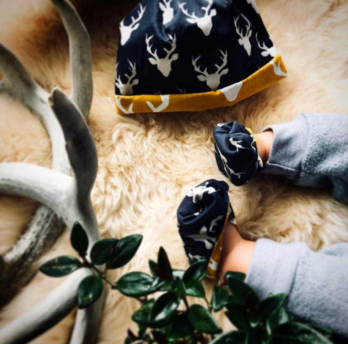 Baby Slippers | Matching Hat - Countryside Treasures