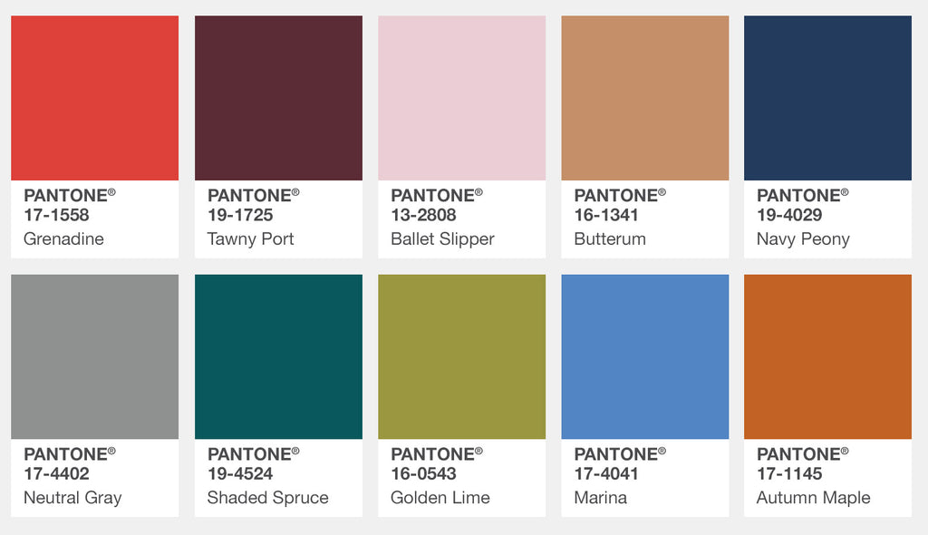 Pantone 2017 Fall Color Report