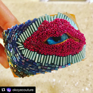 Third Eye Cuff Bracelet (Custom) - Eclectic Thought Catalog