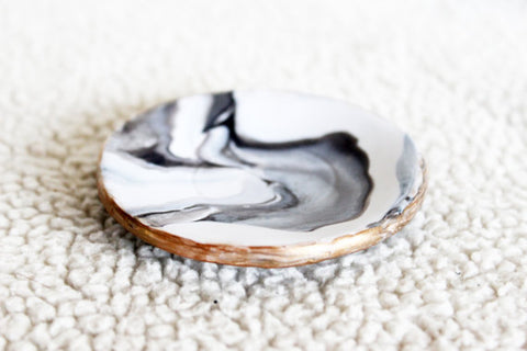 Handmade Marbled Ring Dish, Ring Holder - Eclectic Thought Catalog