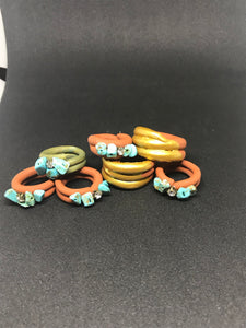 Turquoise Gem Pinky Rings - Eclectic Thought Catalog