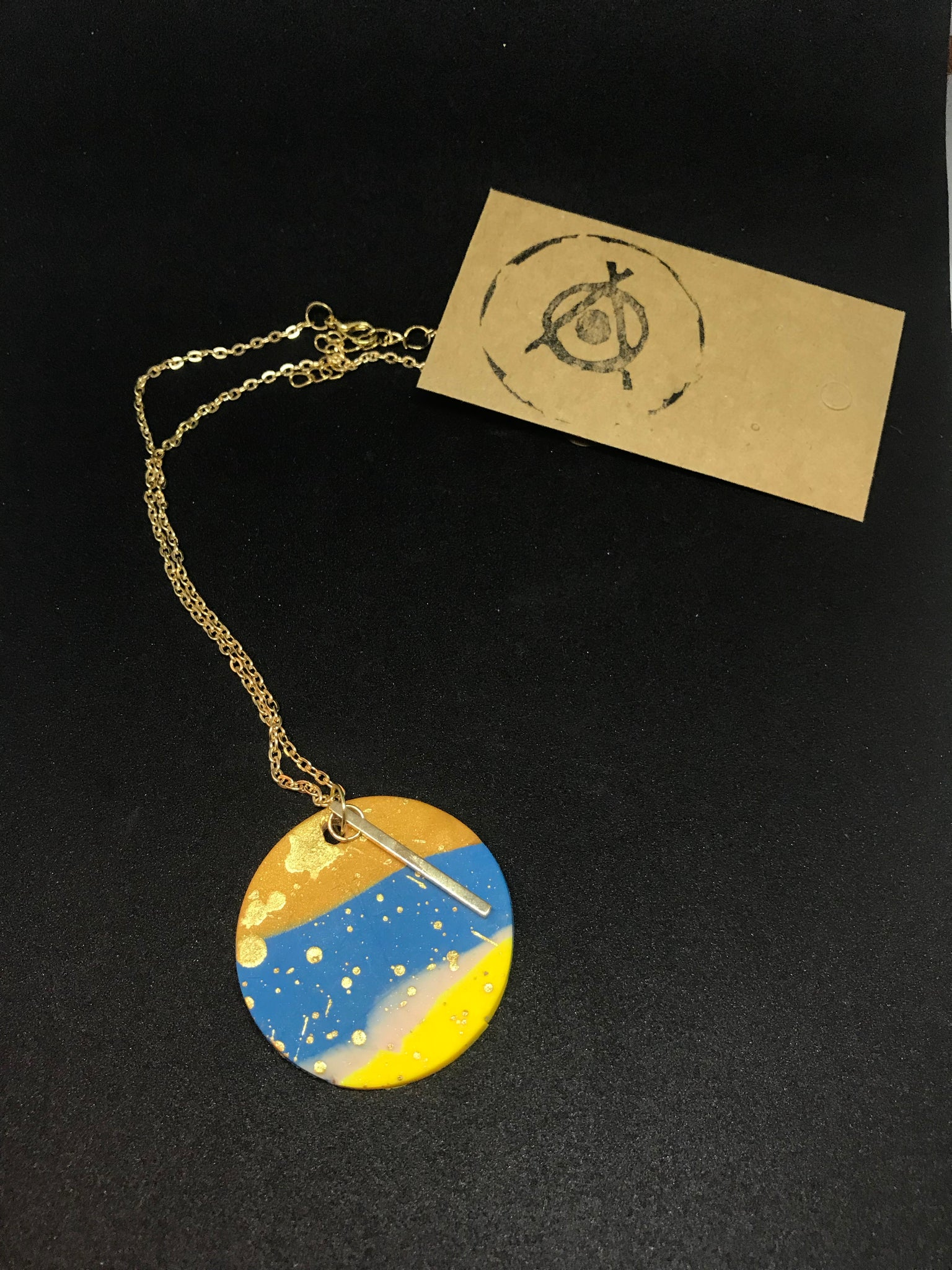 Sunset pendant necklace
