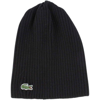 Lacoste Black Classic Beanie