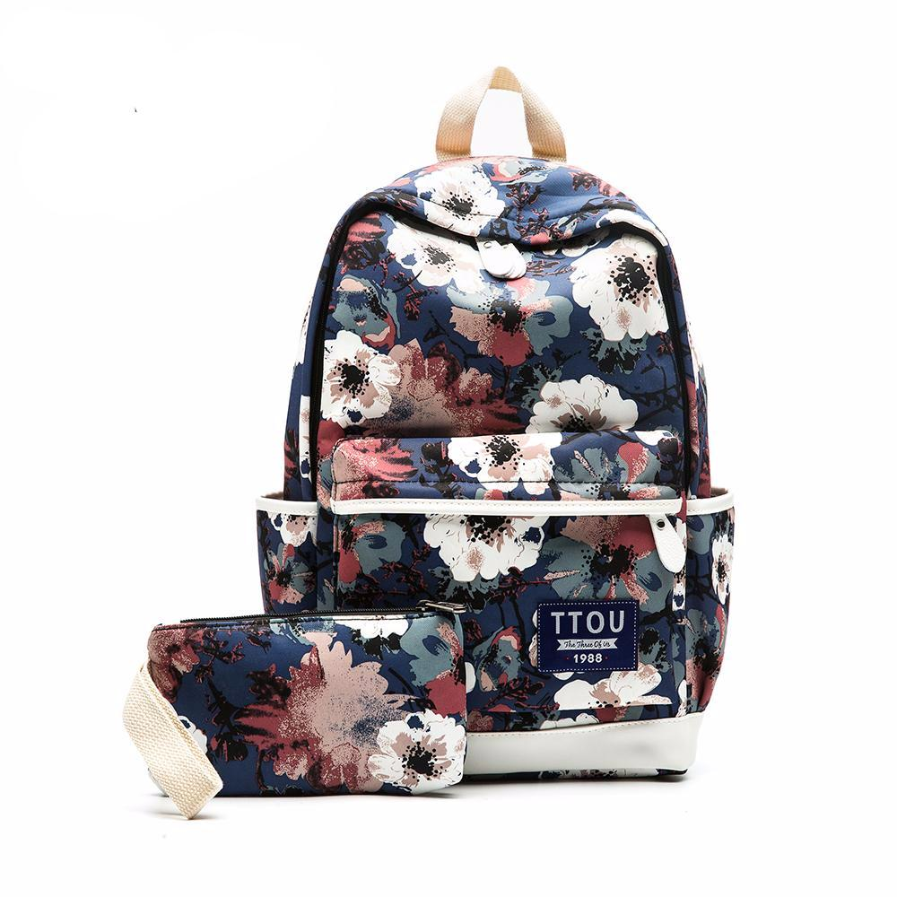 Flowers Canvas Backpack