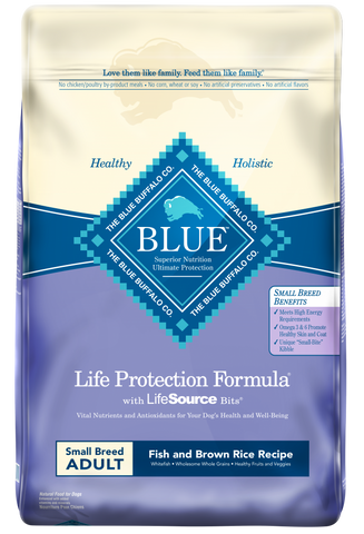 Blue Buffalo Life Protection Small Breed Adult Fish and Brown Rice Recipe Dry Dog Food