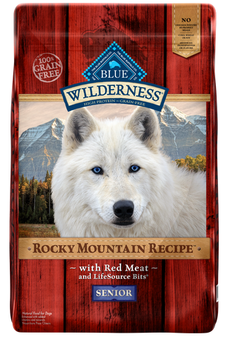 Blue Buffalo BLUE Wilderness Rocky Mountain Recipe Senior Red Meat Dry Dog Food