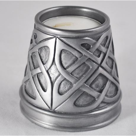 Candle Holder in Silver Finish by Design Clinic 6.5cm - Large