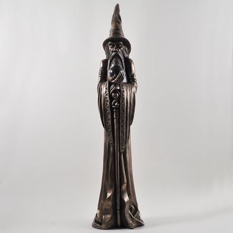 Large Bronze Wizard by Design Clinic 49cm