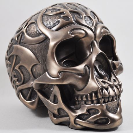 Tribal Skull In Bronze Finish by Design Clinic 19.5cm