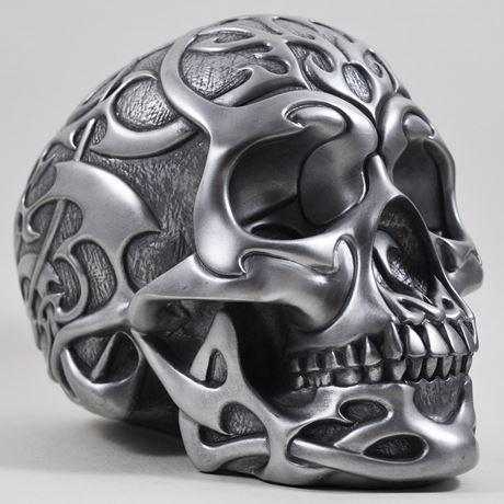 Tribal Skull in Silver Finish by Design Clinic 20cm