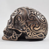 Tribal Skull 3 In Bronze by Design Clinic 13cm - Medium