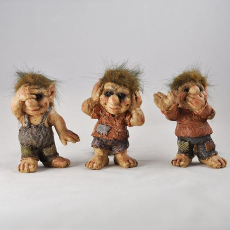 See, Hear, Speak No Evil Trolls 10cm