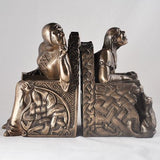 Shhhh Bookends in Bronze Finish by Design Clinic 18cm
