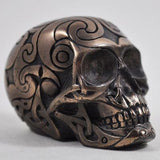 Small Celtic Skull in Bronze Finish by Design Clinic 5.5cm