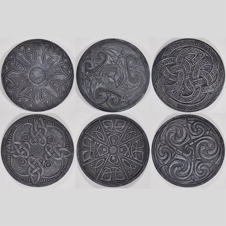 Six Celtic Coasters 9cm
