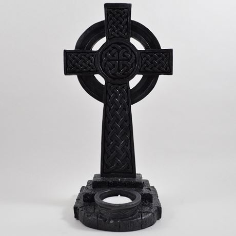 Celtic Cross Tealight Holder 25.5cm