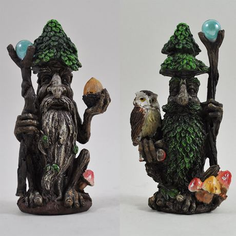 Tree Ent Acorn and Owl Set of Two 14cm