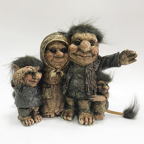 Family of Four Trolls 15cm