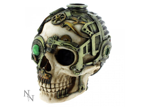 Steampunk Skull Candle Holder by Anne Stokes 16.5cm