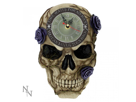 Never Turn Back Backwards Clock 27cm