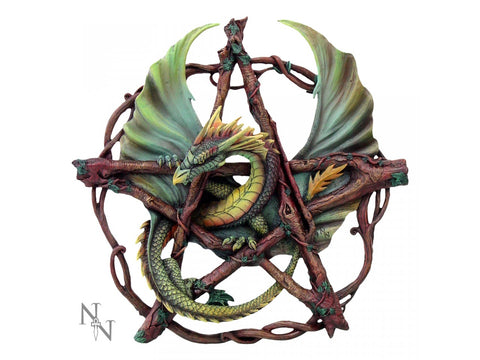 Forest Pentagram Dragon by Anne Stokes 32.5cm