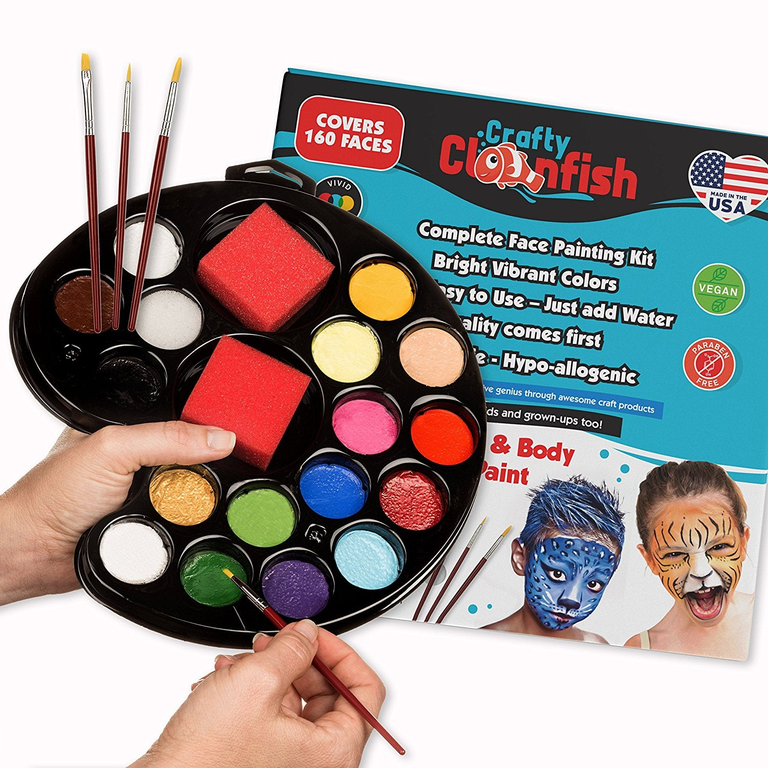 face painting kit crafty clownfish