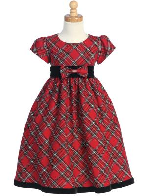 Baby Girl Plaid Holiday Dress