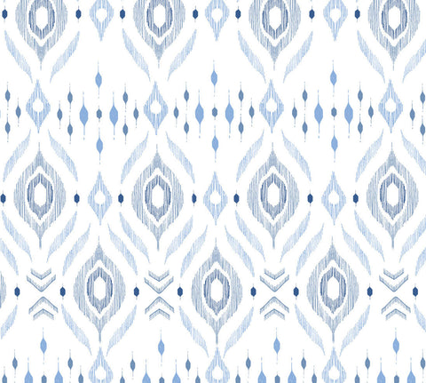 Muslin Swaddle Blanket - Blue Ikat