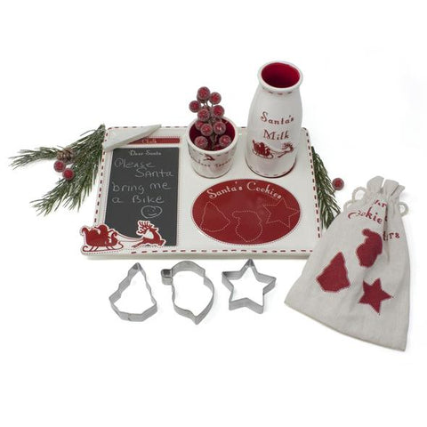 Santa's Message Platter & Cookie Set
