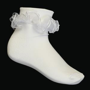 Girls Communion Ruffled Socks