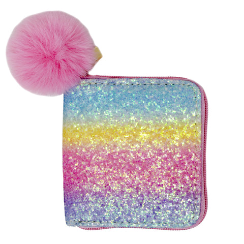 Bright Rainbow Glitter Wallet