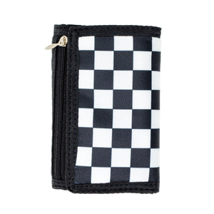 Boy's Checkered Wallet in Black