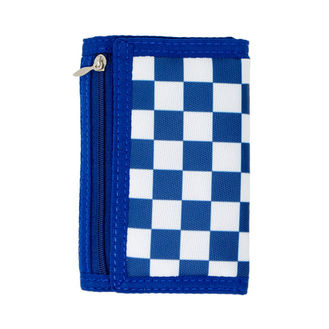 Boy's Checkered Wallet in Blue