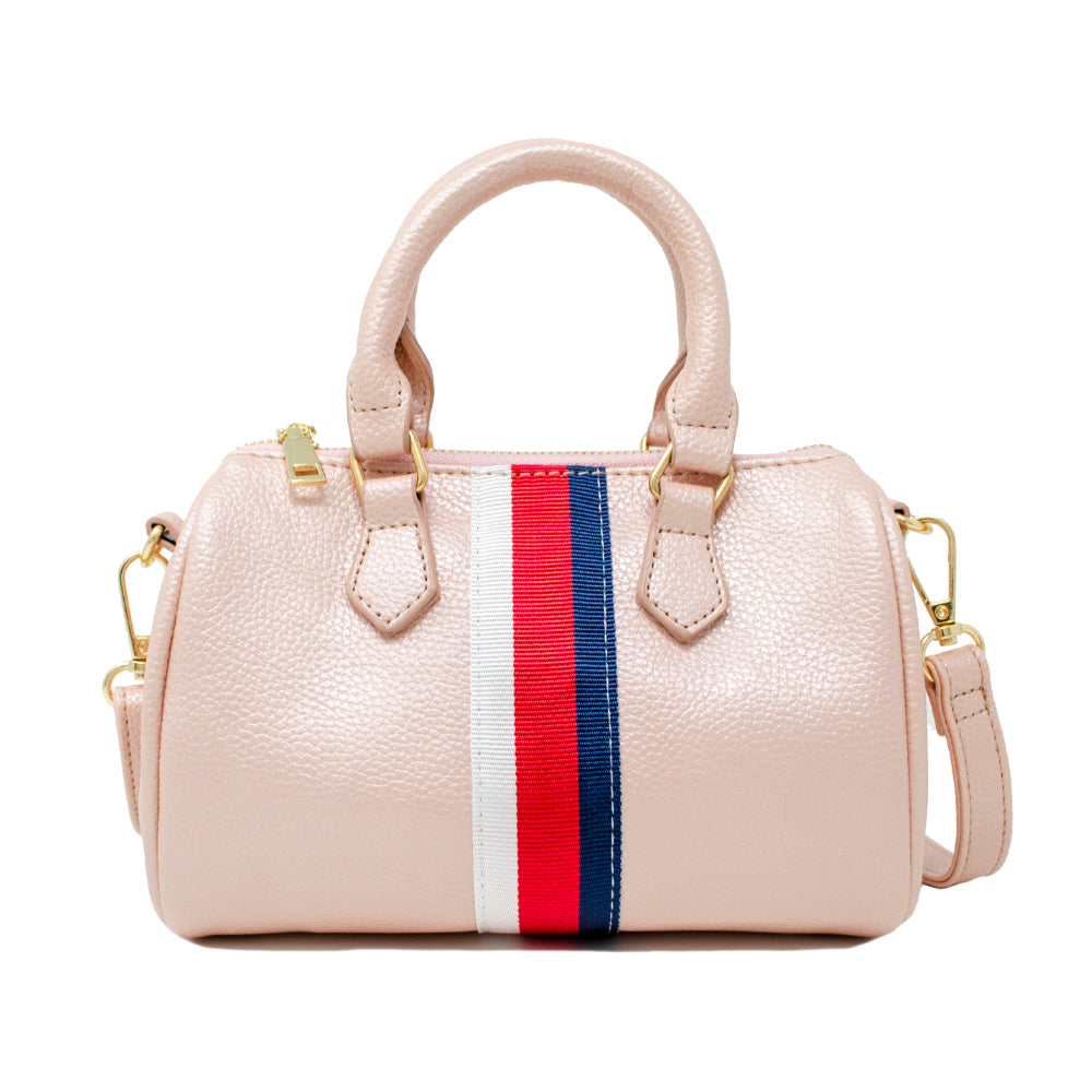 Striped Mini Duffle Purse