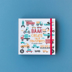 Londji Bam Transports! Wooden Stamps