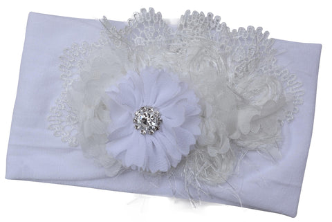 Bella Couture Baby Headband in Ivory