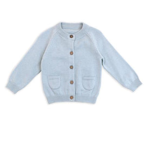 Organic Knit Cardigan in Blue