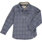 Boys Slate Plaid Button Down Shirt