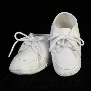 Boys Cotton Christening Booties