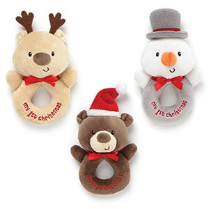 Christmas Baby Soft Rattle