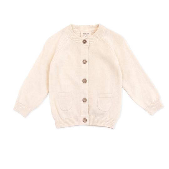 Organic Knit Cardigan in Cream