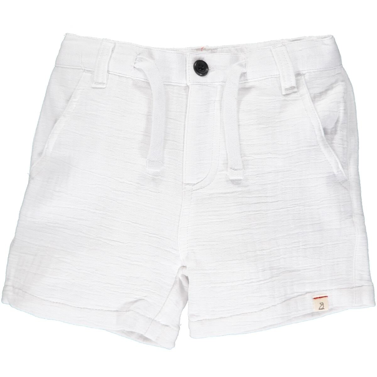 Crew Linen Shorts in White